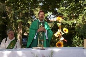 l'évêque fait part de sa joie d'être à Corbigny ce matin