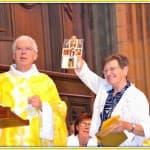 13, Jubilé d'or de soeur Martine Bonaïti, lors de la messe d'au revoir des prêtres célébrée à la cathédrale, dimanche 31 août 2014, DSC_0517