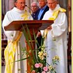 4, Jean-Michel Levitte et Denis Pellety-Many, diacres, lors de la messe d'au revoir des prêtres célébrée à la cathédrale, dimanche 31 août 2014,  DSC_0501