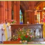 7, Père François-Xavier Reveneau lors de la messe d'au revoir célébrée à la cathédrale, dimanche 31 août 2014,  DSC_0503