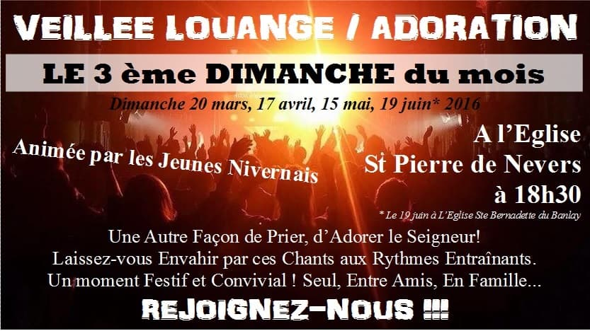 affiche veillee louange nevers 2016