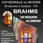 Requiem Allemand de BRAHMS à la cathédrale, dimanche 2 octobre.