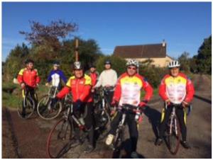 Echanges sportifs matinaux sous un soleil généreux, avec le Vélo-Club de Dirol (paroisse de TANNAY)