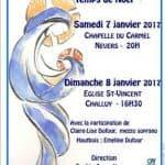 """Le chœur """"CRESCENDO"""" au Carmel de Nevers et à Challuy les 7 et 8 janvier 2017"""